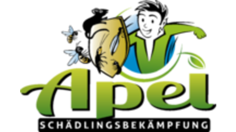 Middle logo apel mit schatten