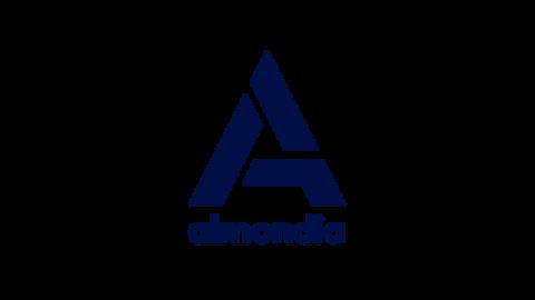 Middle almondia logo mit zusatz dark blue positiv