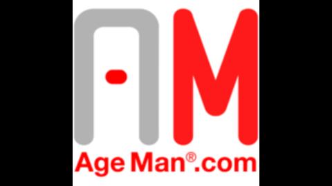 Middle alterssimulationsanzug ageman mit schrift square