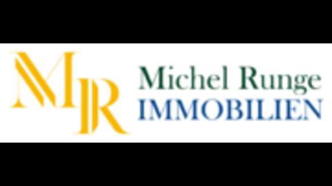 Middle michel runge immobilienmakler logo und schriftzug 2 auf weissem hintergrund